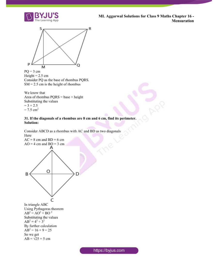 ML Aggarwal Solutions for Class 9 Maths Chapter 16 Mensuration 51