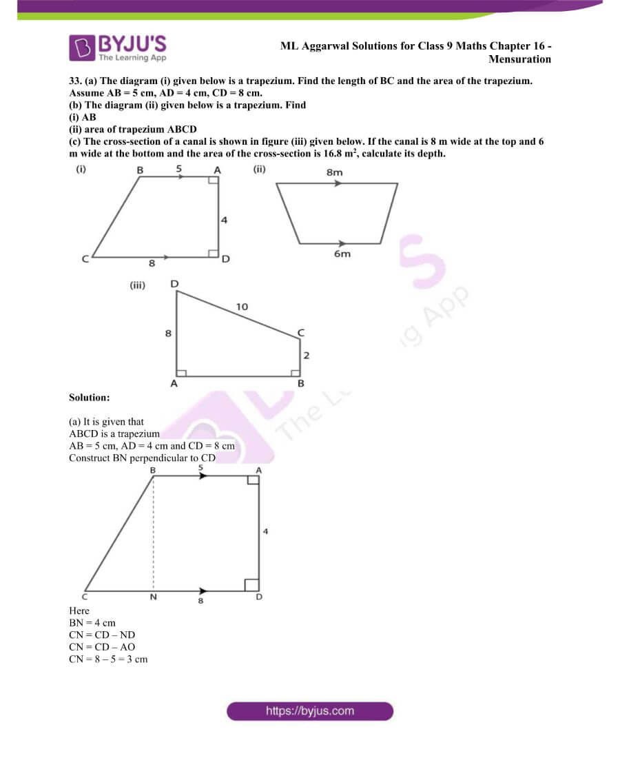 ML Aggarwal Solutions for Class 9 Maths Chapter 16 Mensuration 53