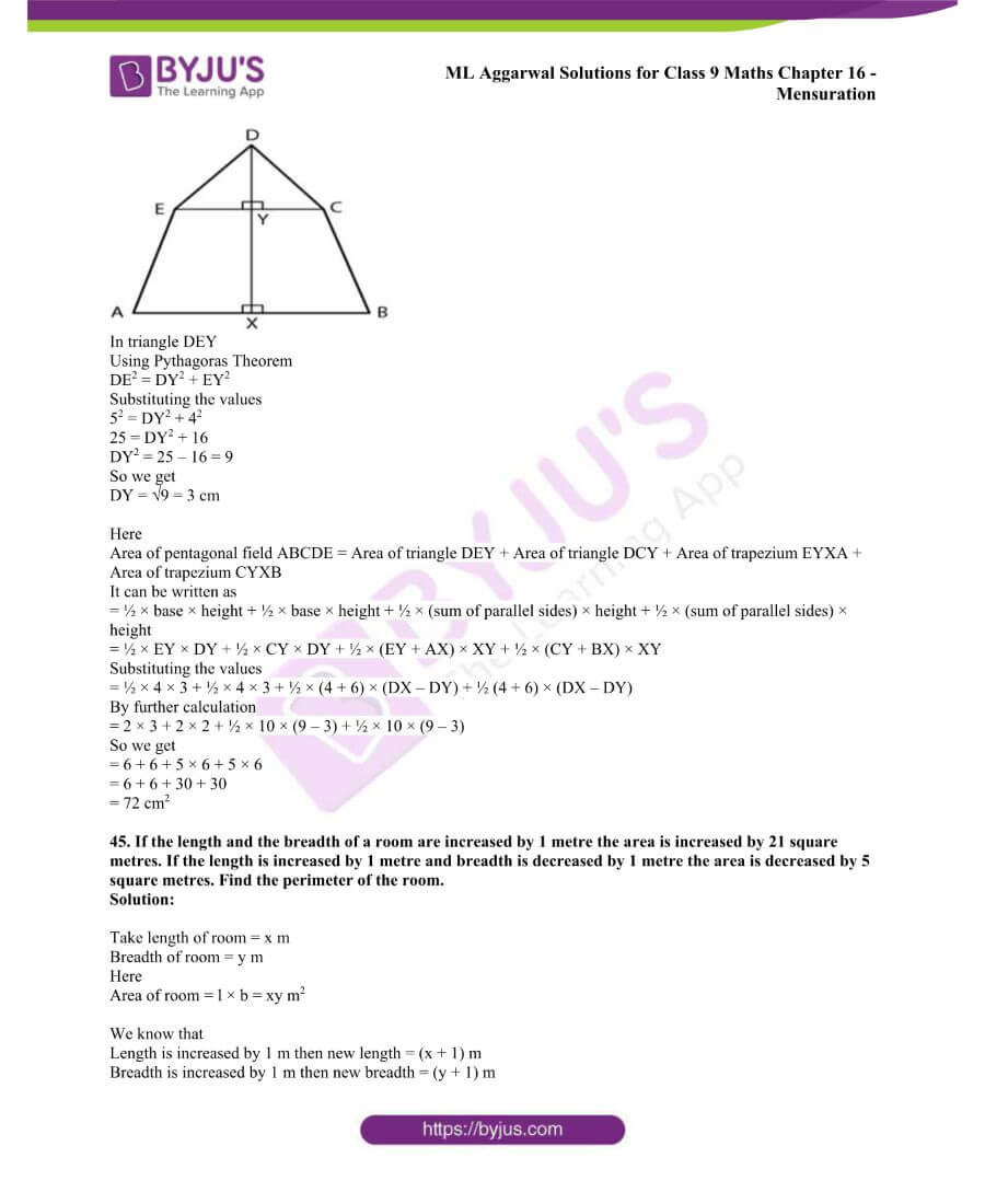 ML Aggarwal Solutions for Class 9 Maths Chapter 16 Mensuration 68