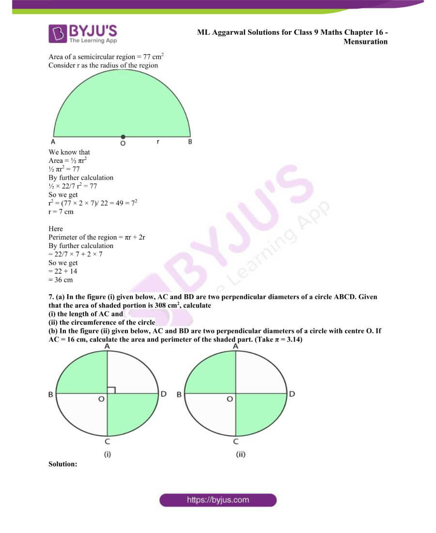 ML Aggarwal Solutions for Class 9 Maths Chapter 16 Mensuration 75