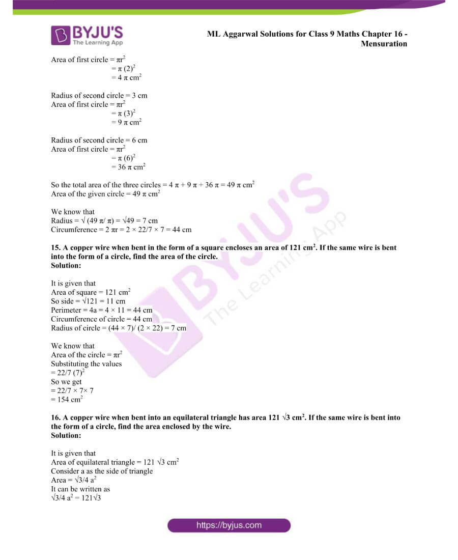 ML Aggarwal Solutions for Class 9 Maths Chapter 16 Mensuration 81