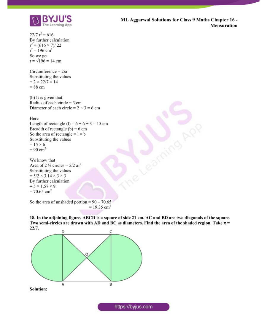 ML Aggarwal Solutions for Class 9 Maths Chapter 16 Mensuration 83