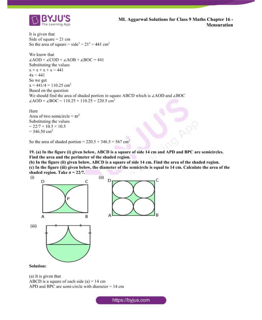 ML Aggarwal Solutions for Class 9 Maths Chapter 16 Mensuration 84