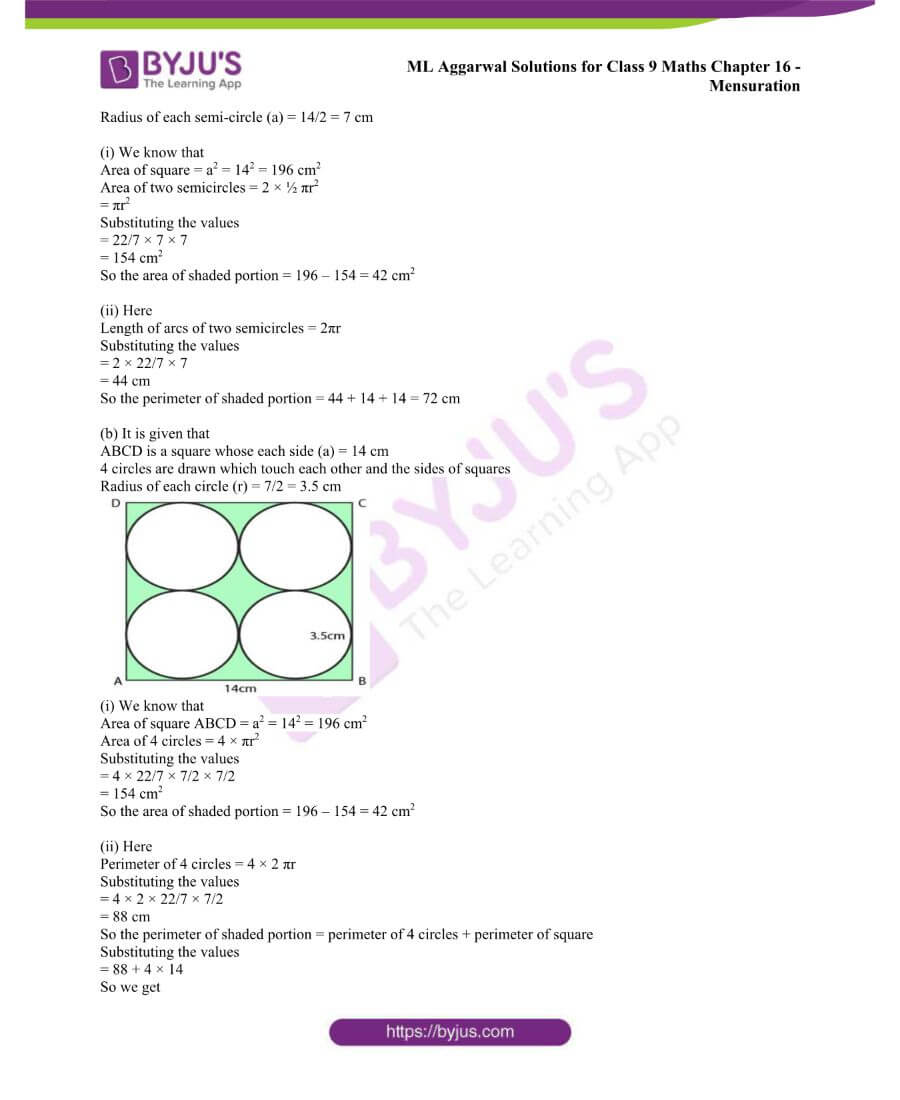 ML Aggarwal Solutions for Class 9 Maths Chapter 16 Mensuration 85