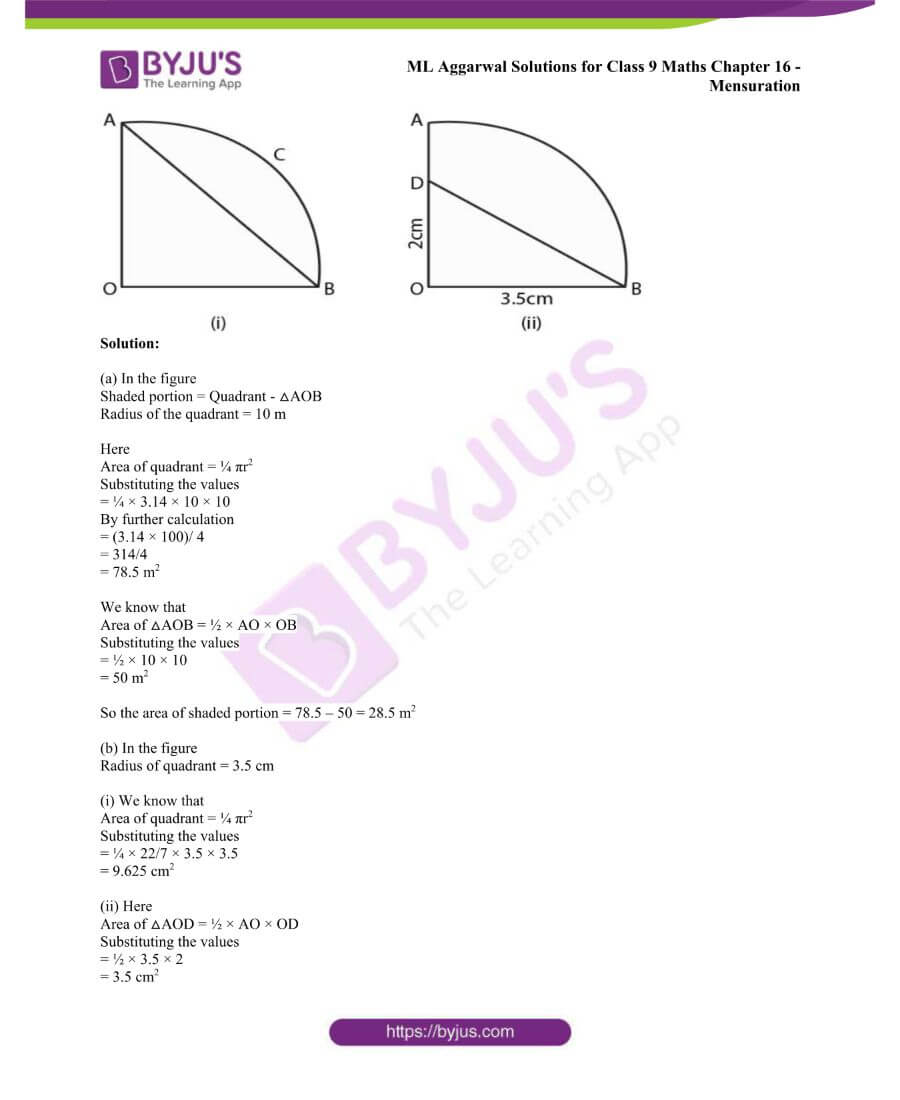 ML Aggarwal Solutions for Class 9 Maths Chapter 16 Mensuration 88