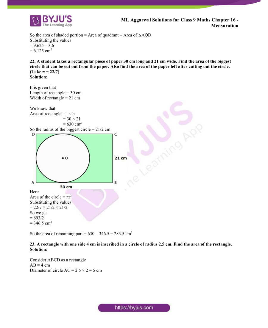 ML Aggarwal Solutions for Class 9 Maths Chapter 16 Mensuration 89