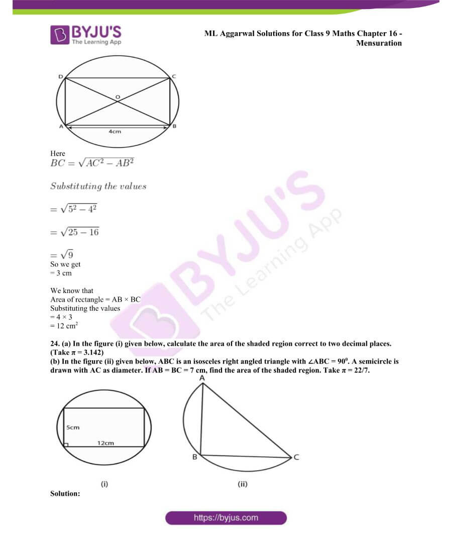 ML Aggarwal Solutions for Class 9 Maths Chapter 16 Mensuration 90