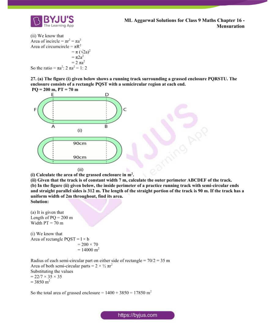 ML Aggarwal Solutions for Class 9 Maths Chapter 16 Mensuration 94