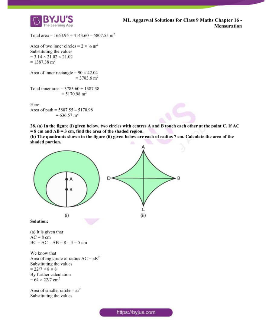 ML Aggarwal Solutions for Class 9 Maths Chapter 16 Mensuration 96
