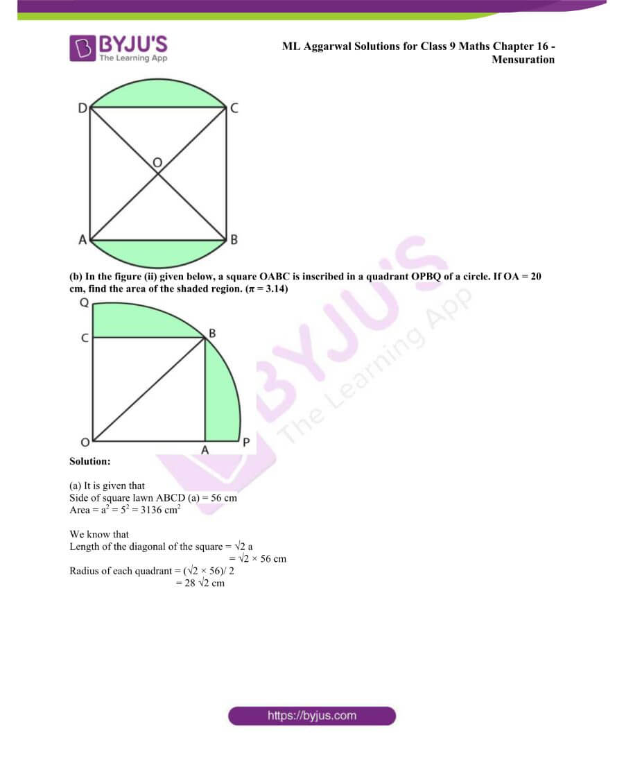 ML Aggarwal Solutions for Class 9 Maths Chapter 16 Mensuration 98