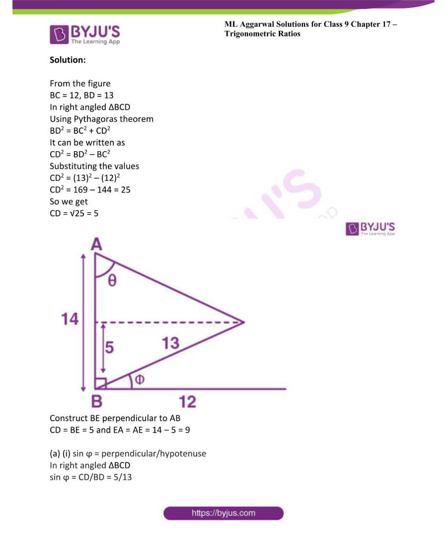 ML Aggarwal Solutions for Class 9 Maths Chapter 17 Trigonometric Ratios 53