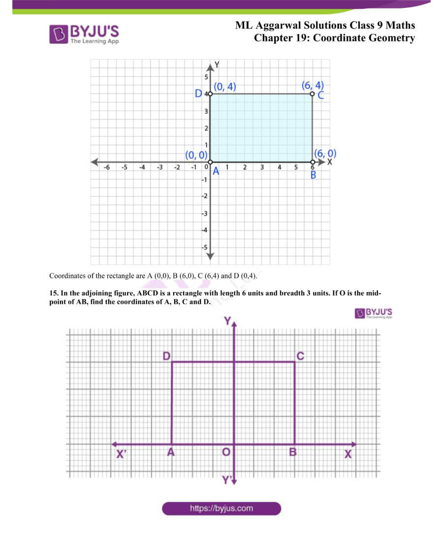 ML Aggarwal Solutions for Class 9 Maths Chapter 19 Coordinate Geometry 12