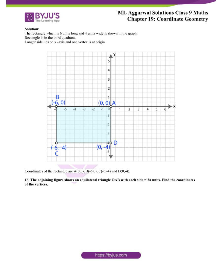 ML Aggarwal Solutions for Class 9 Maths Chapter 19 Coordinate Geometry 13