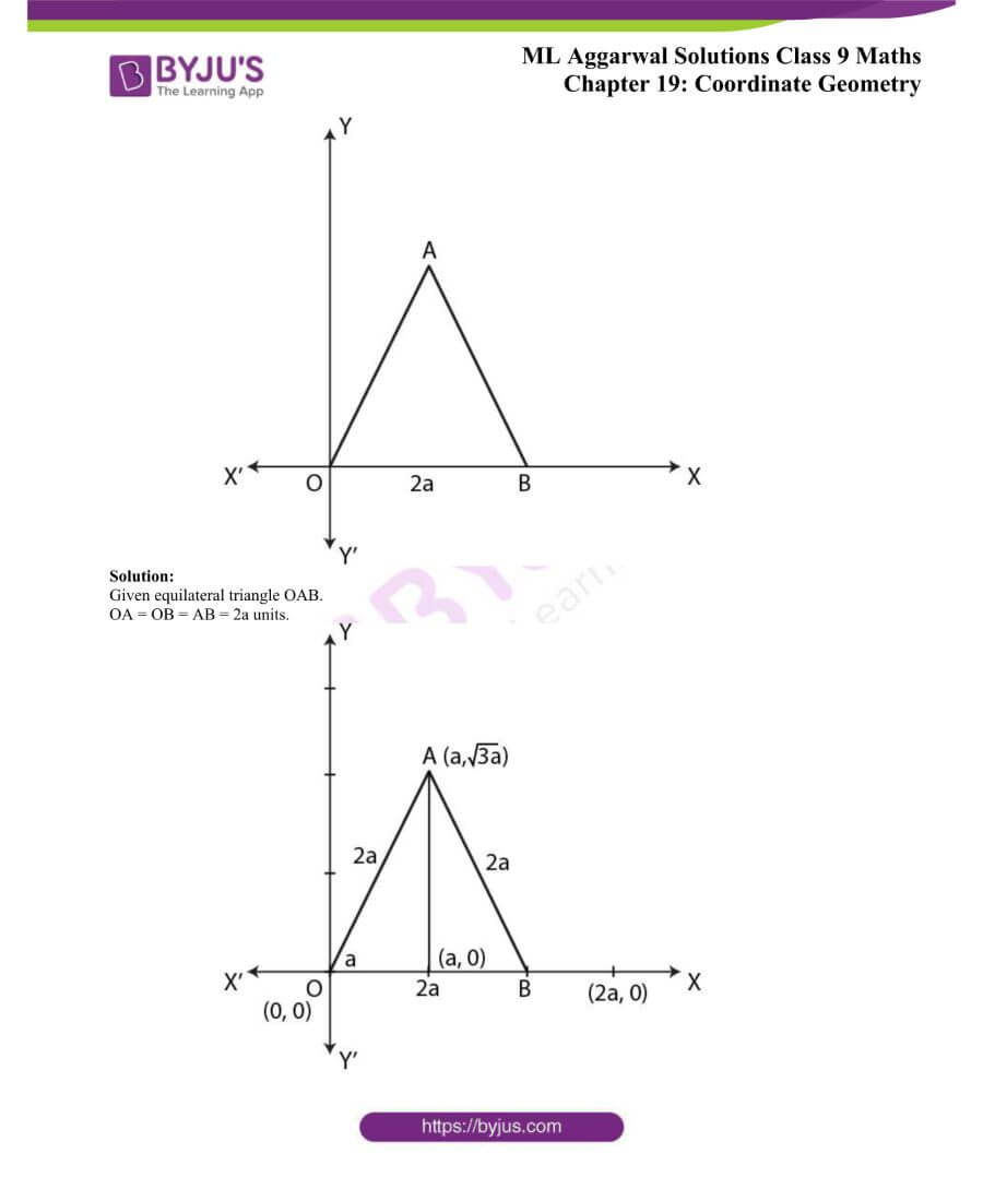 ML Aggarwal Solutions for Class 9 Maths Chapter 19 Coordinate Geometry 14
