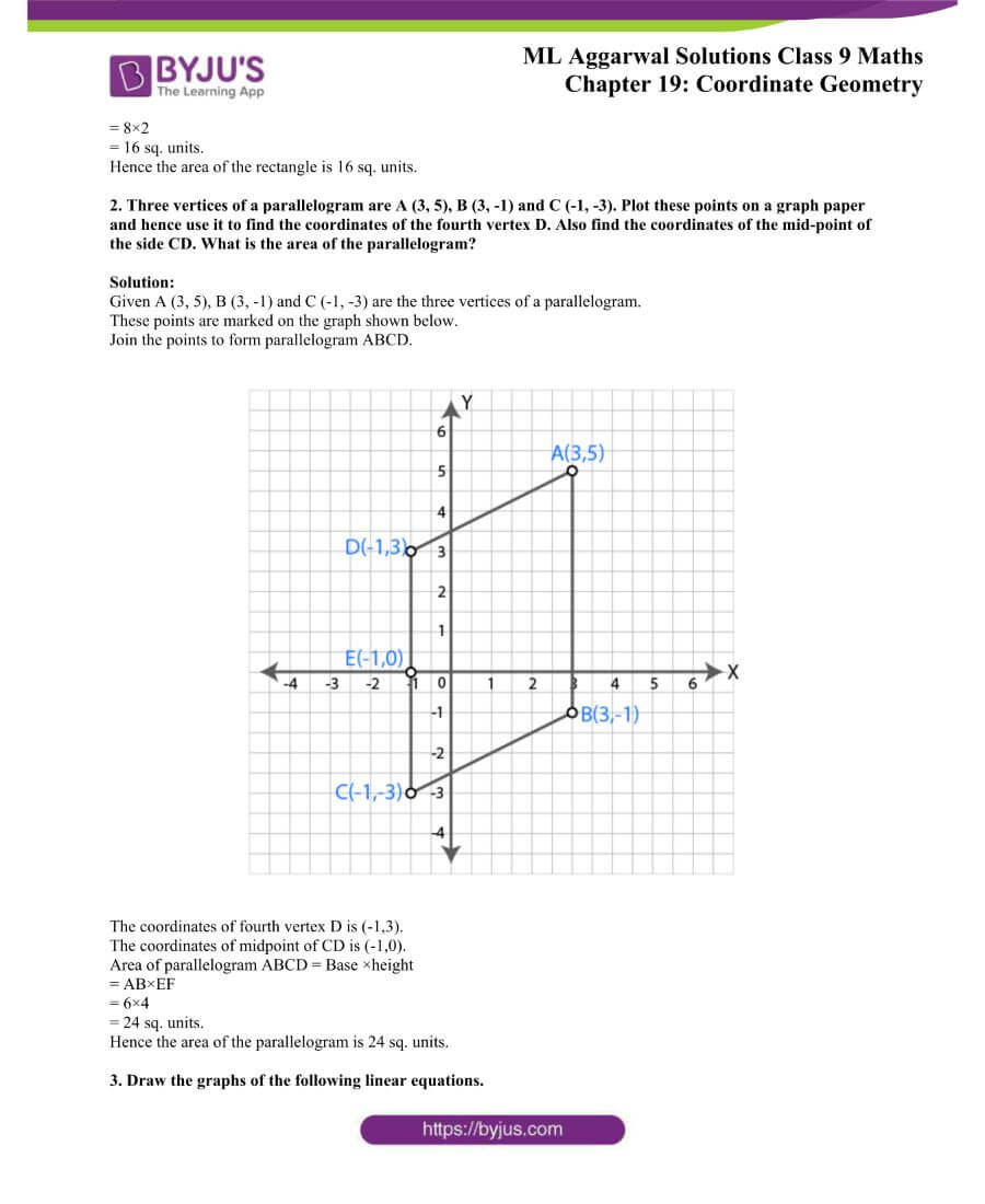 ML Aggarwal Solutions for Class 9 Maths Chapter 19 Coordinate Geometry 59