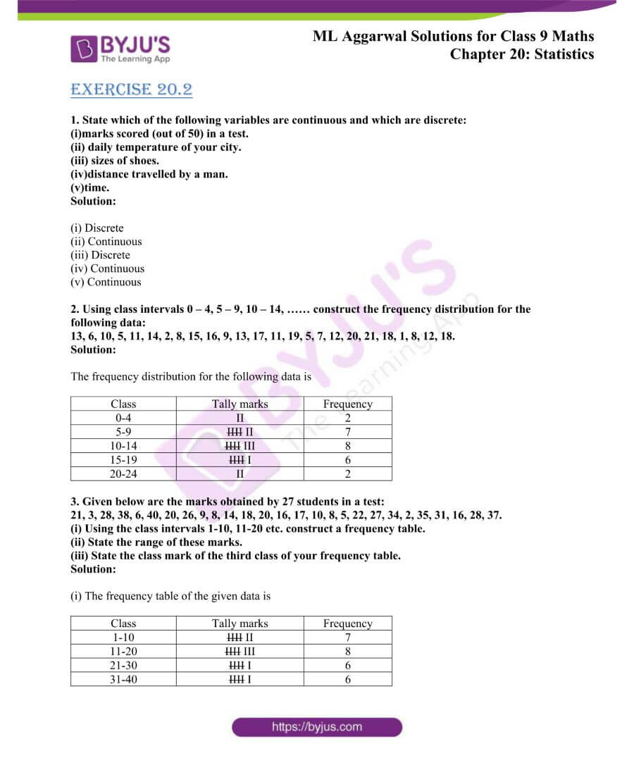 ML Aggarwal Solutions for Class 9 Maths Chapter 20 Statistics 7