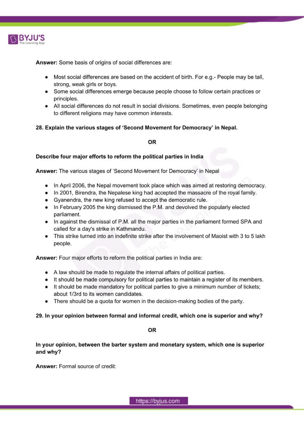 RBSE Class 10 Social Science Question Paper Solutions 2016 PDF 7