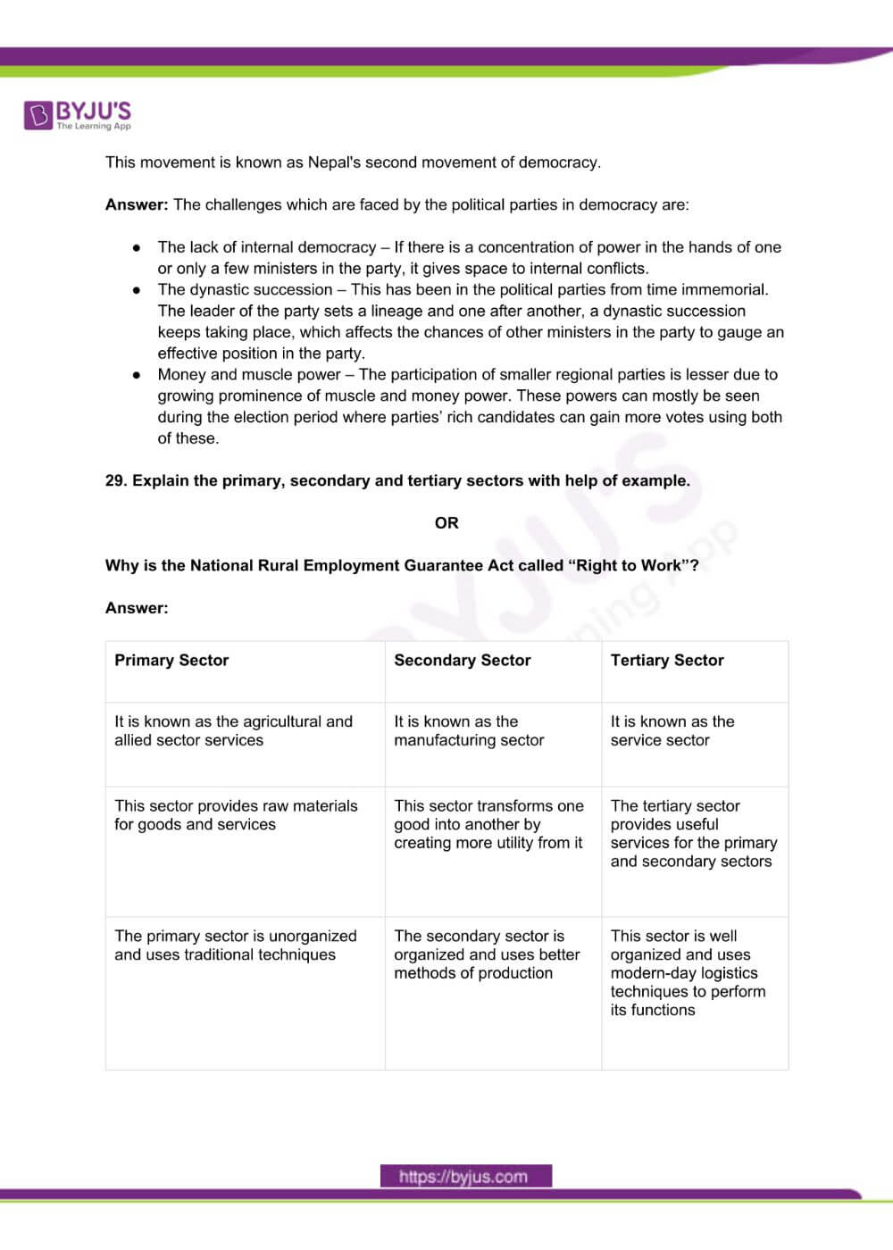 RBSE Class 10 Social Science Question Paper Solutions 2017 PDF 10