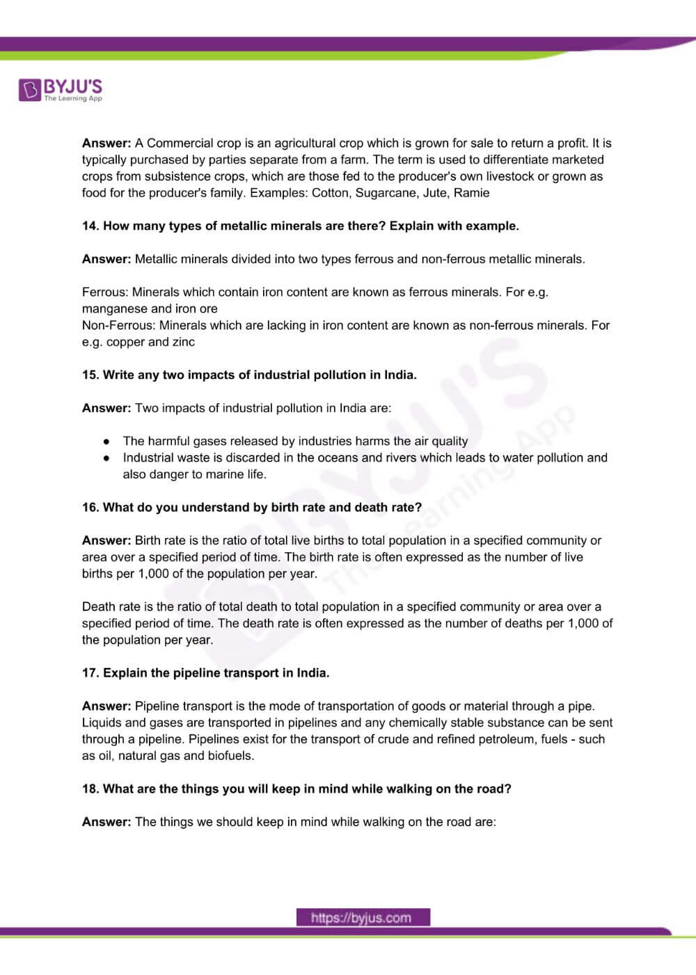 RBSE Class 10 Social Science Question Paper Solutions 2018 PDF 2