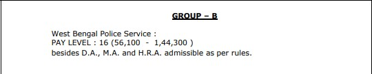 WBPSC 2021 Salary | WBCS 2021 Pay Scale Group B