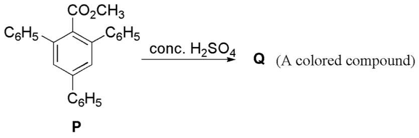 Compound Q is obtained from compound P