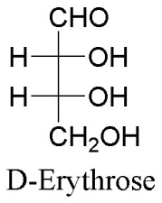 Fischer projection of D-erythrose