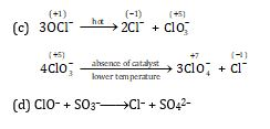 Hypochlorite and chlorate ions
