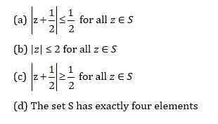JEE Advanced Paper 1 Maths Question 9 Options