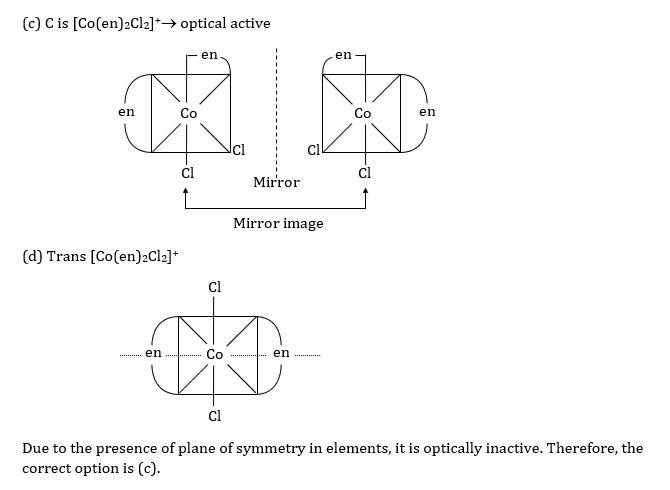 KVPY SX 2016 Chemistry Question 3 Solution