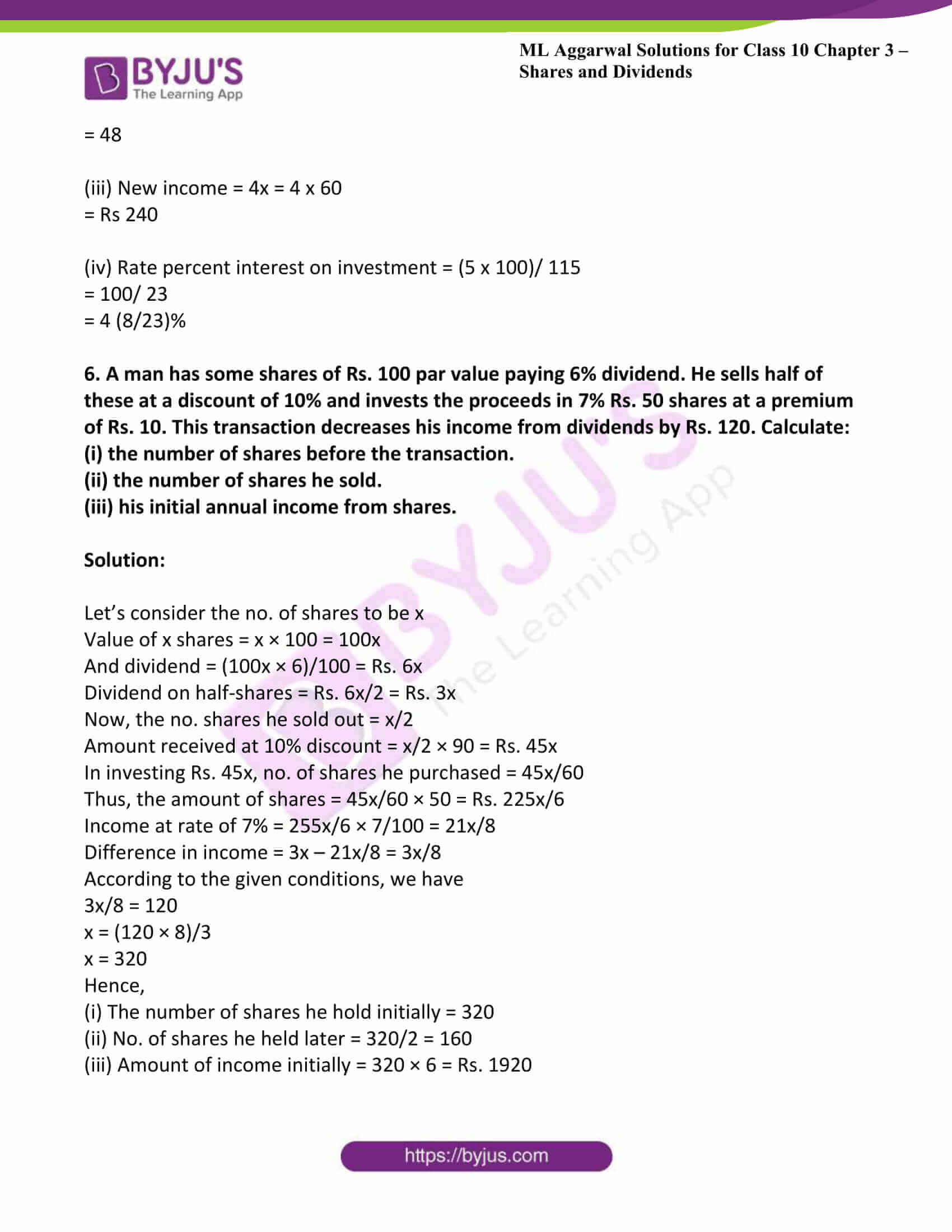ml aggarwal solutions class 10 maths chapter 3 20