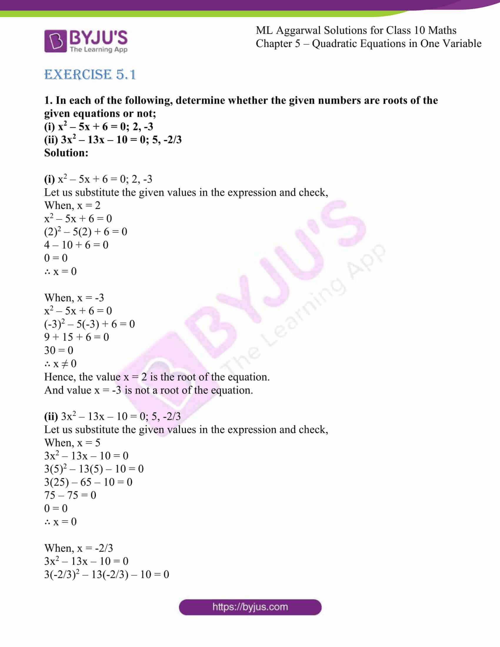 ml aggarwal solutions class 10 maths chapter 5 01