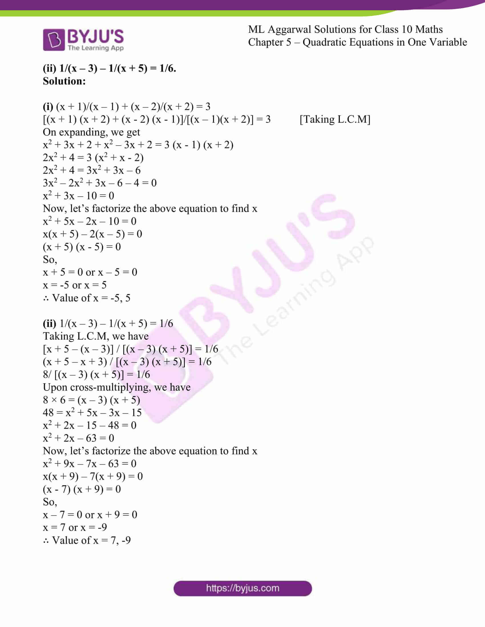 ml aggarwal solutions class 10 maths chapter 5 16