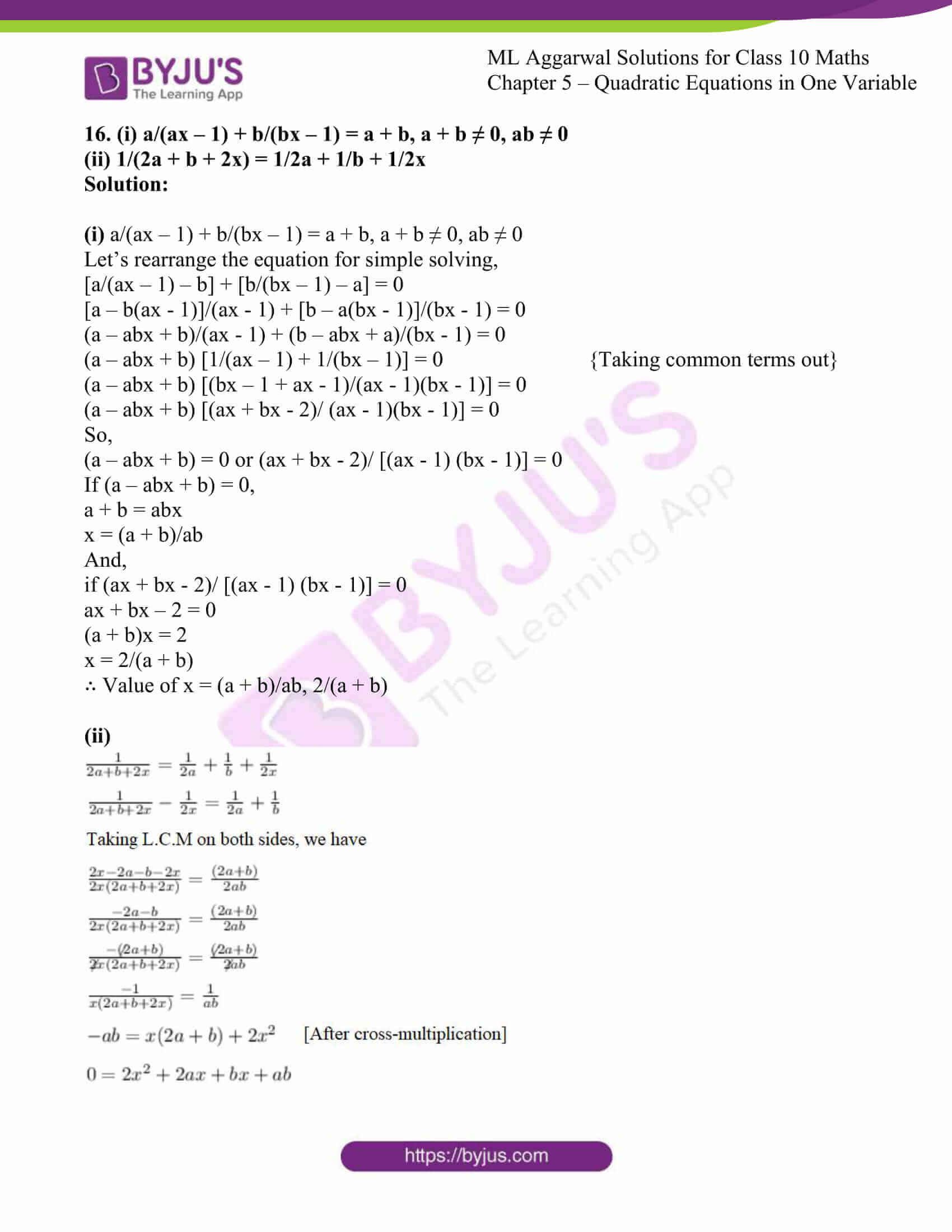 ml aggarwal solutions class 10 maths chapter 5 17
