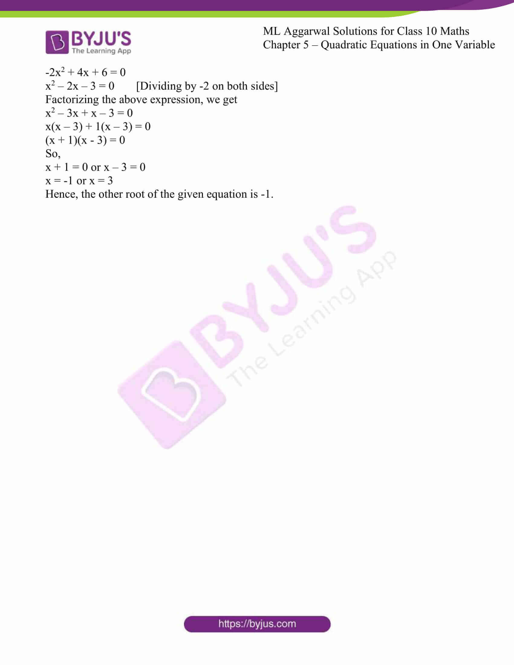 ml aggarwal solutions class 10 maths chapter 5 22