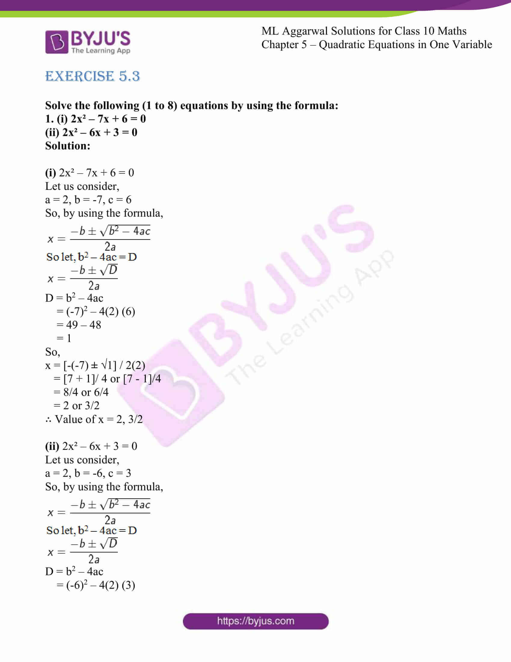 ml aggarwal solutions class 10 maths chapter 5 23