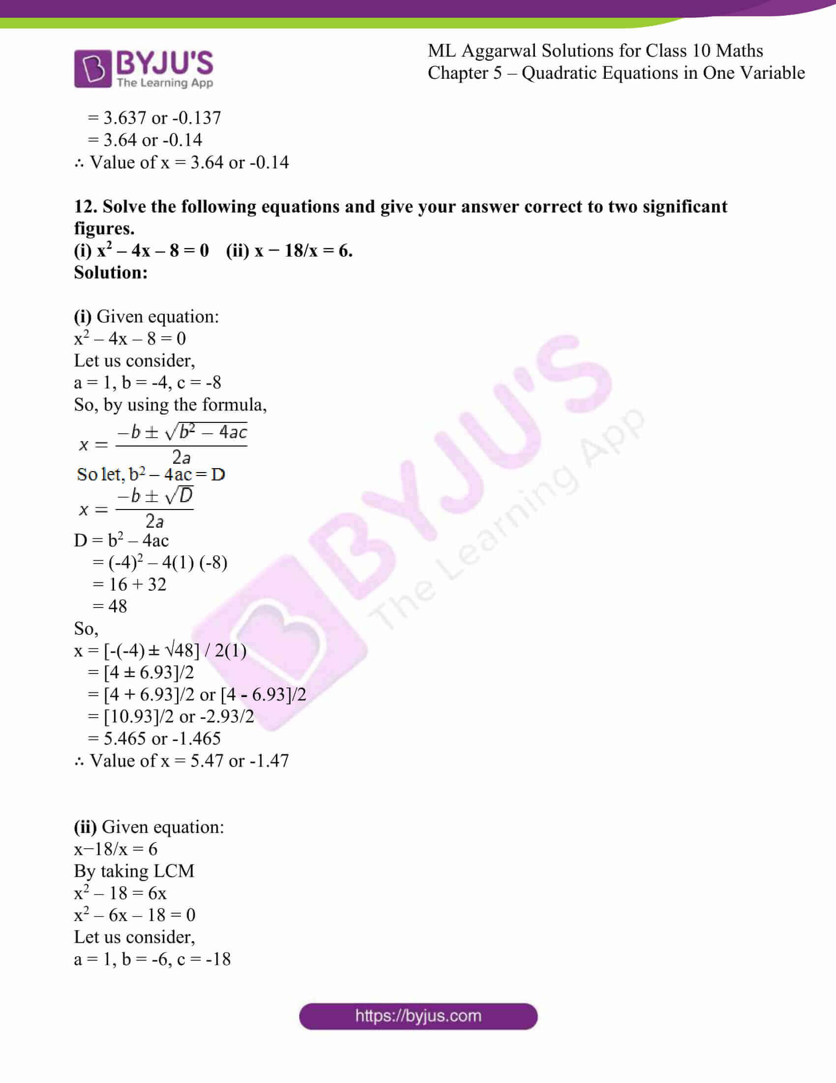ml aggarwal solutions class 10 maths chapter 5 35