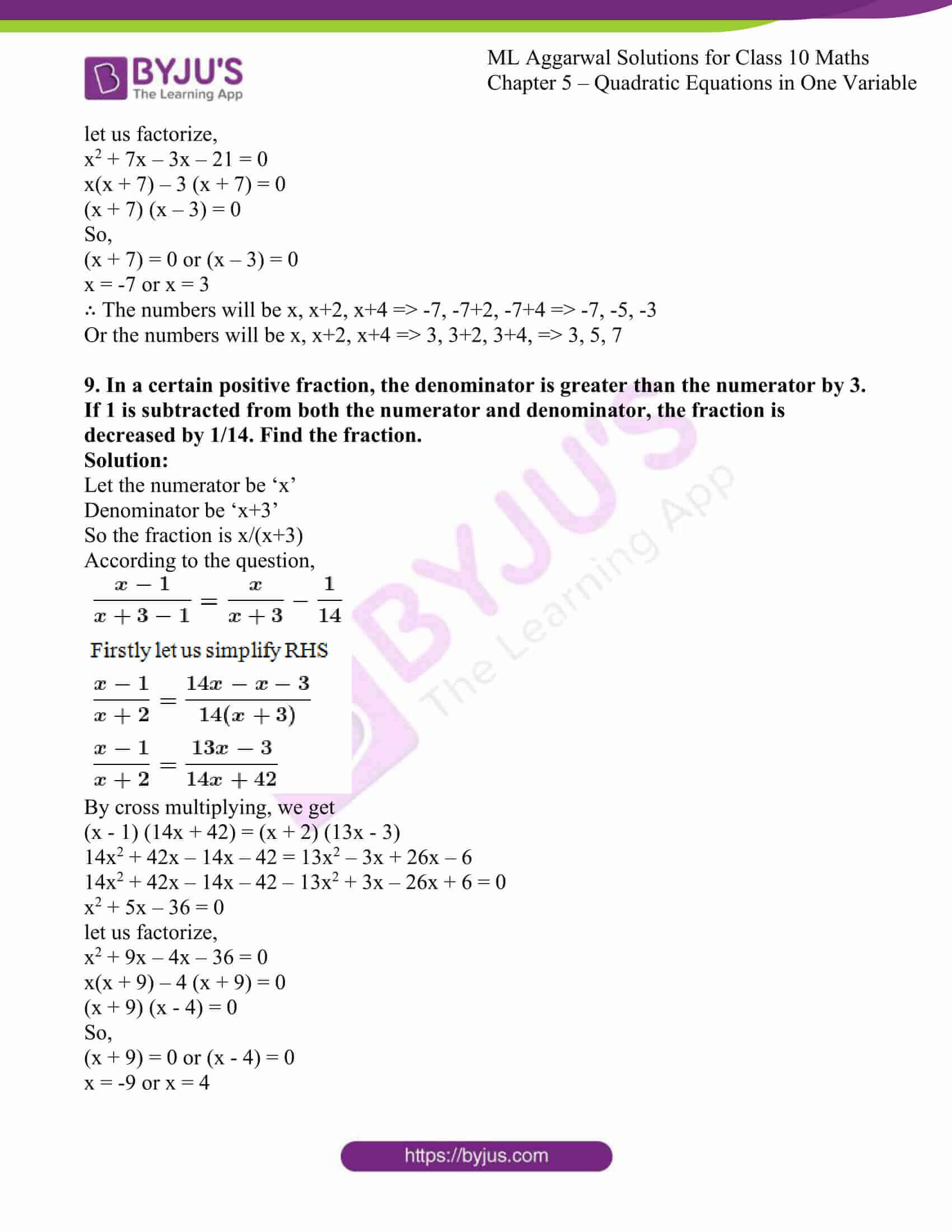 ml aggarwal solutions class 10 maths chapter 5 58