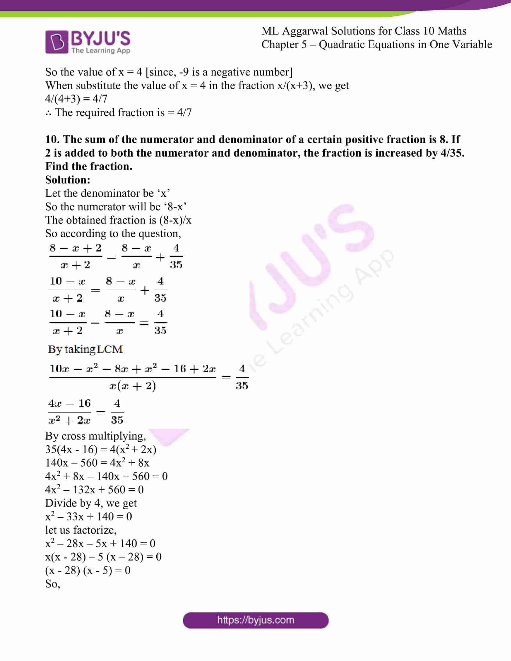 ml aggarwal solutions class 10 maths chapter 5 59