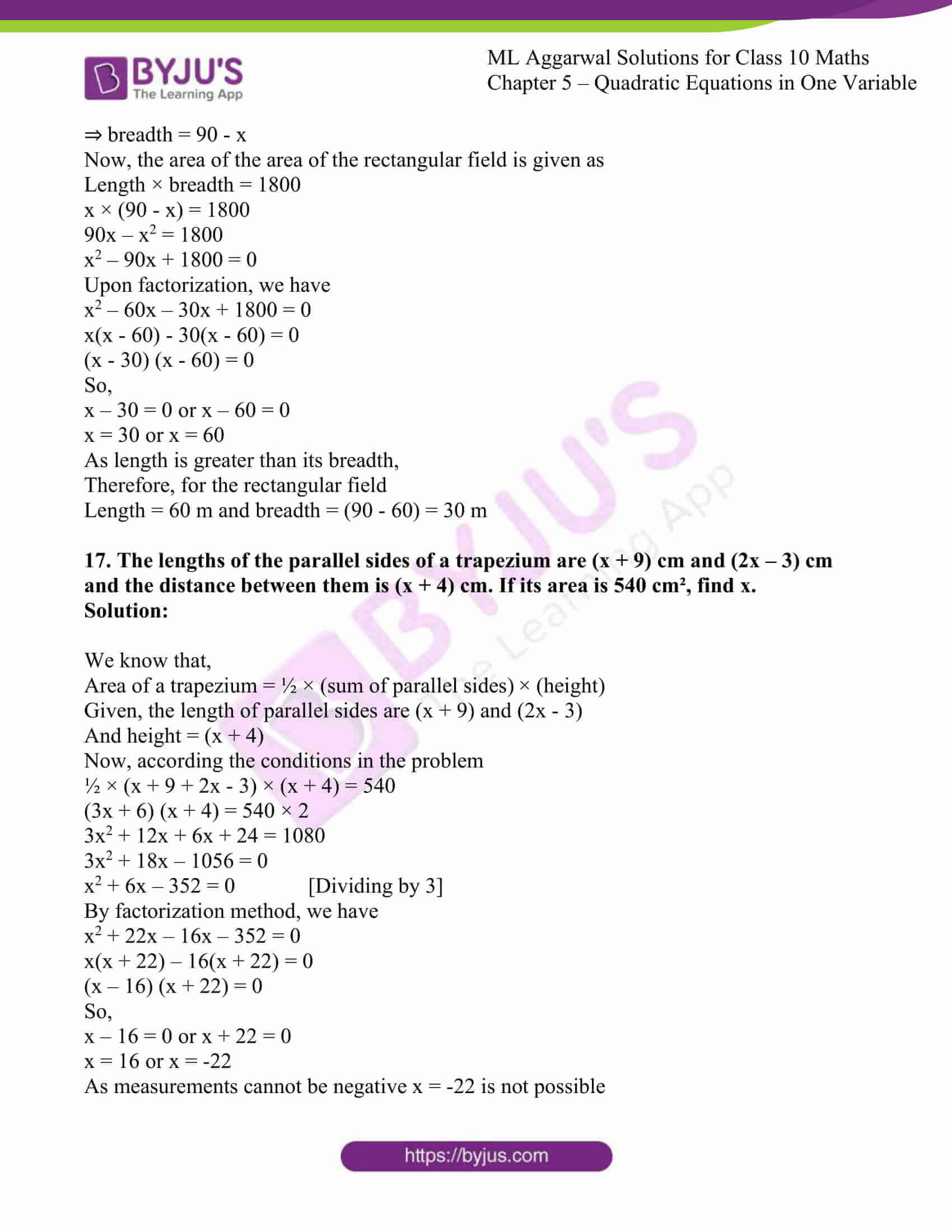 ml aggarwal solutions class 10 maths chapter 5 64