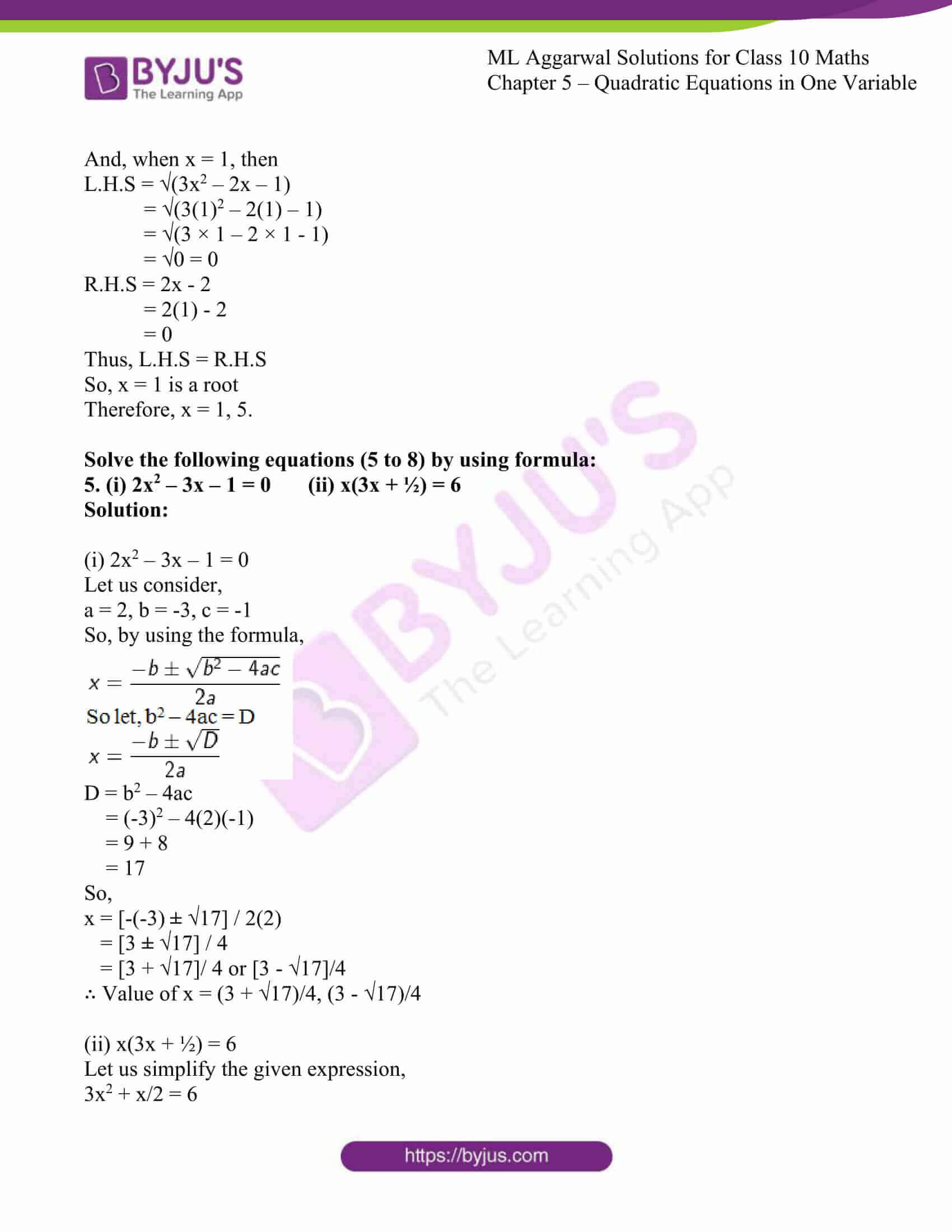 ml aggarwal solutions class 10 maths chapter 5 72