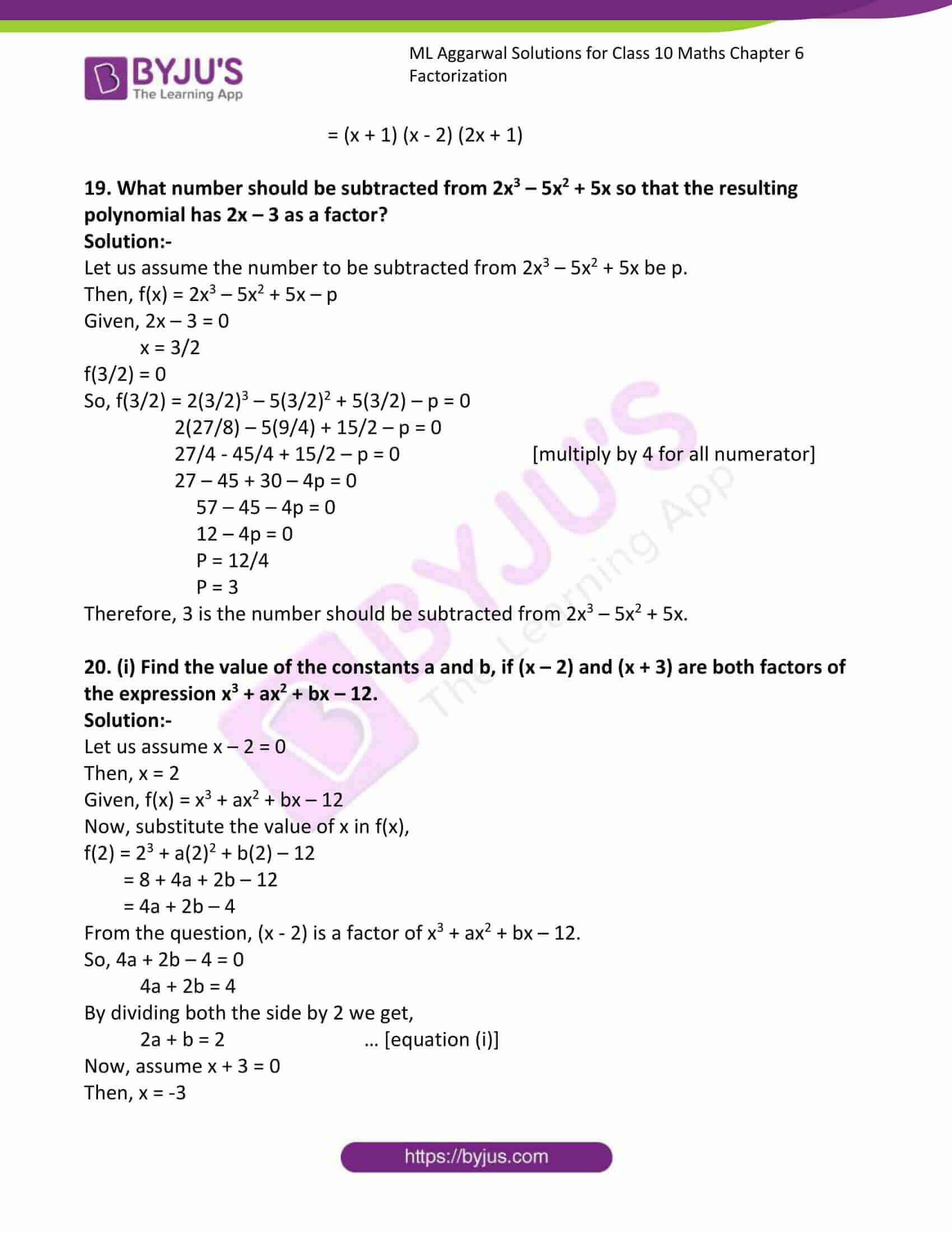 ml aggarwal solutions class 10 maths chapter 6 19