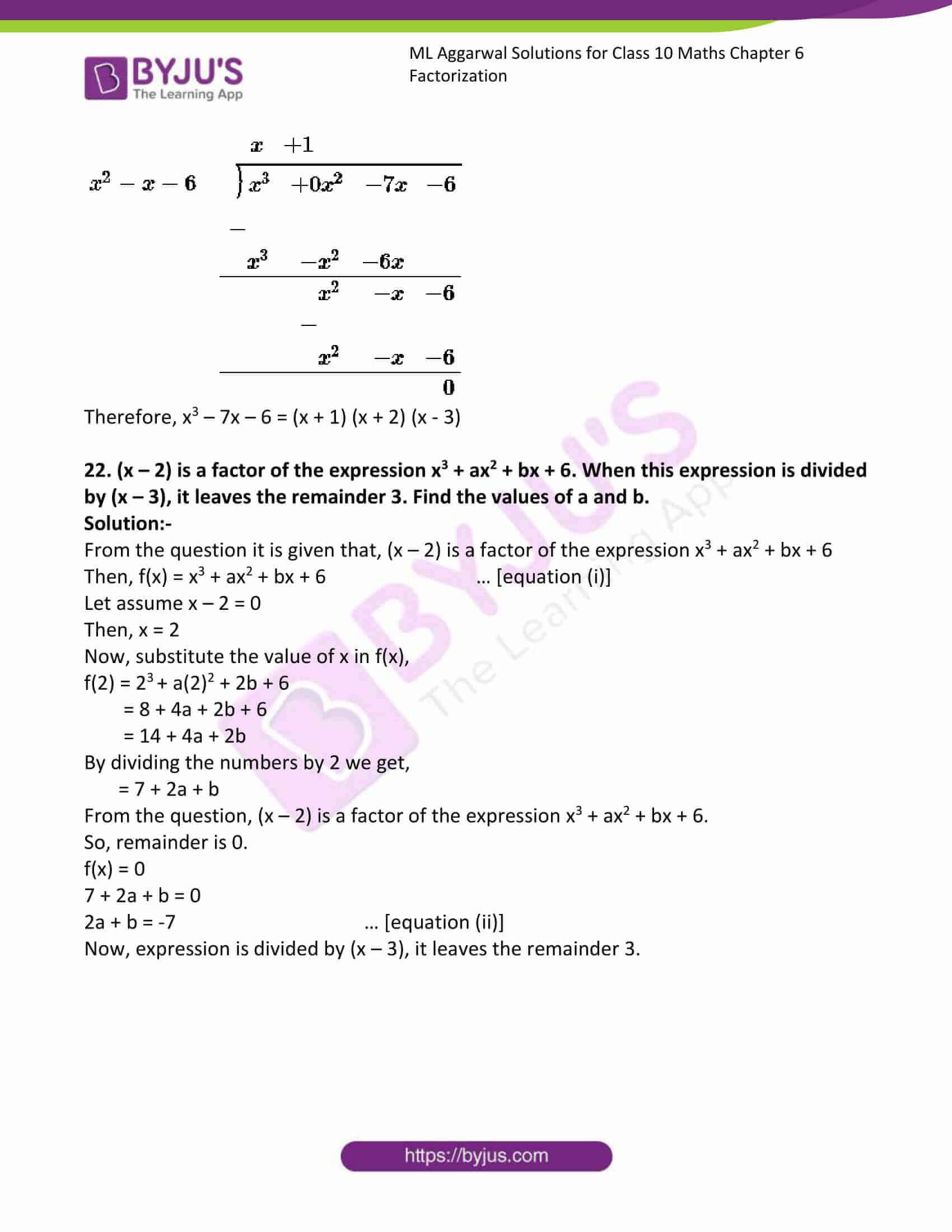 ml aggarwal solutions class 10 maths chapter 6 23