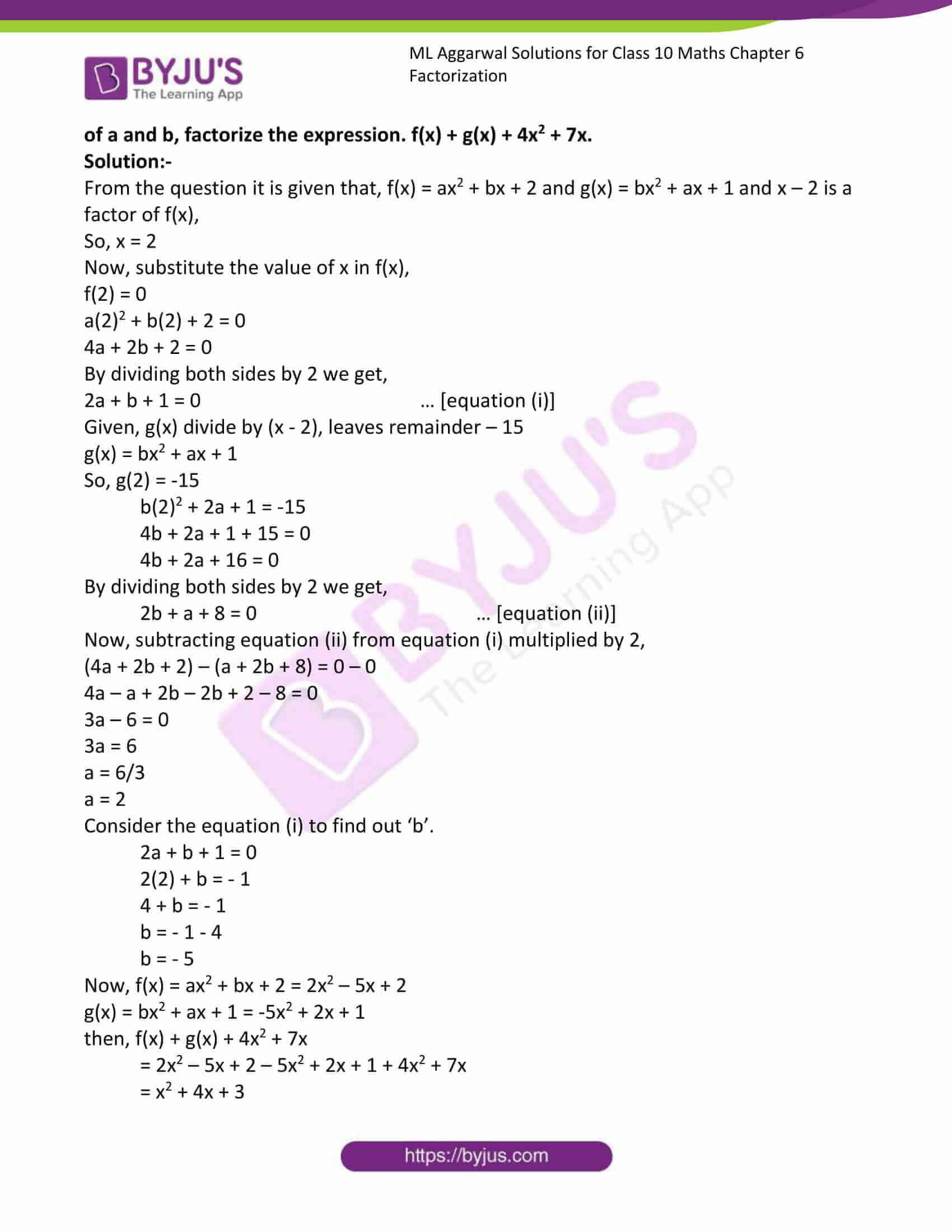 ml aggarwal solutions class 10 maths chapter 6 28