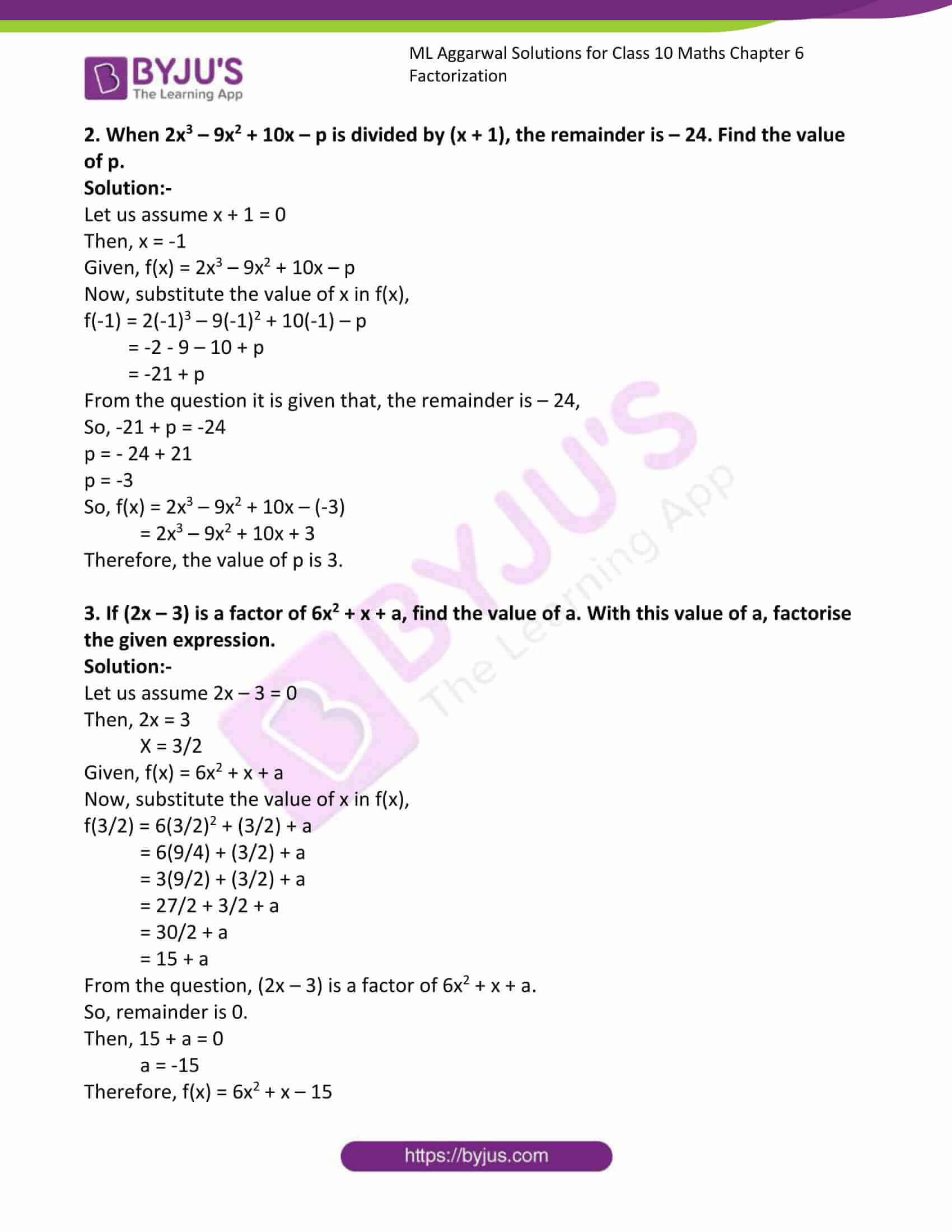 ml aggarwal solutions class 10 maths chapter 6 31