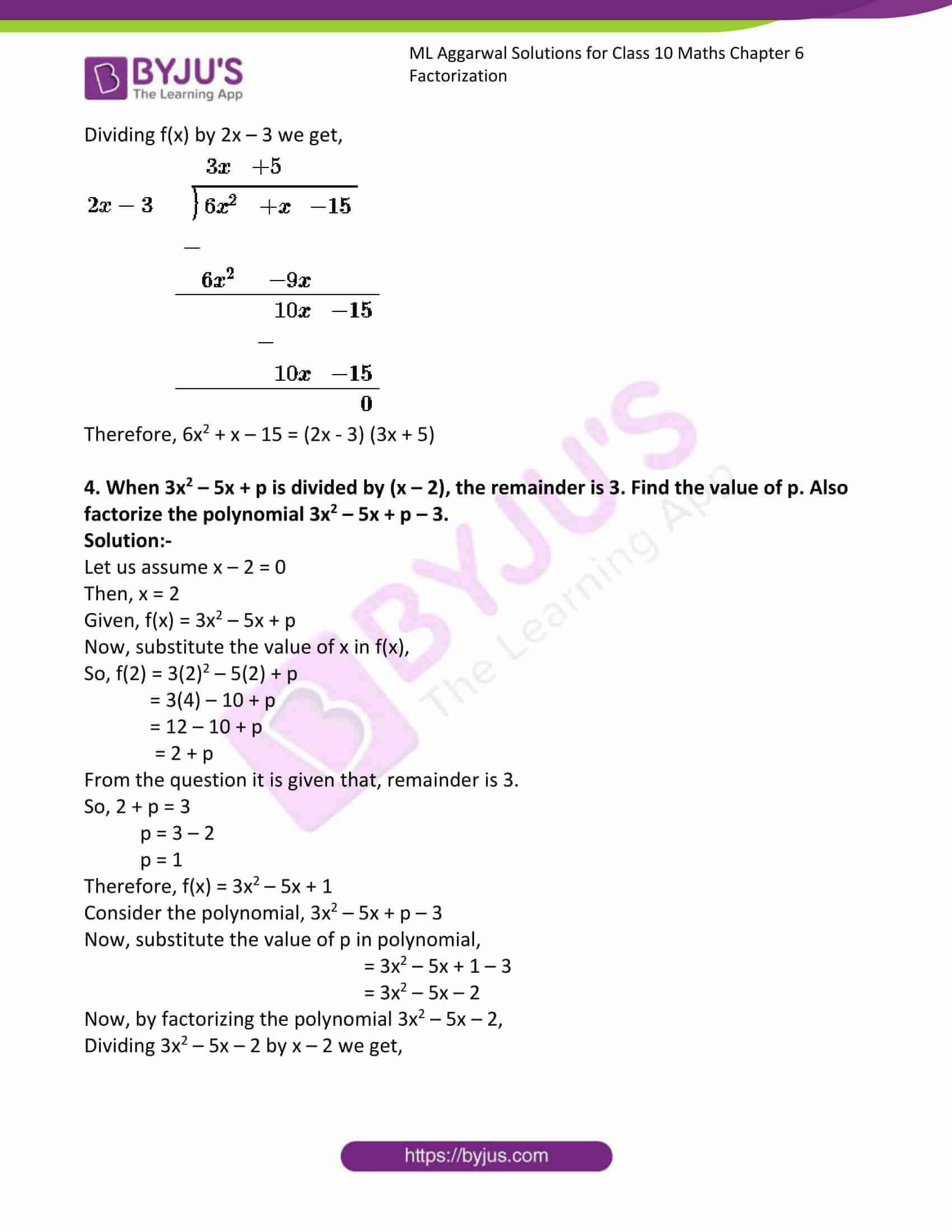 ml aggarwal solutions class 10 maths chapter 6 32