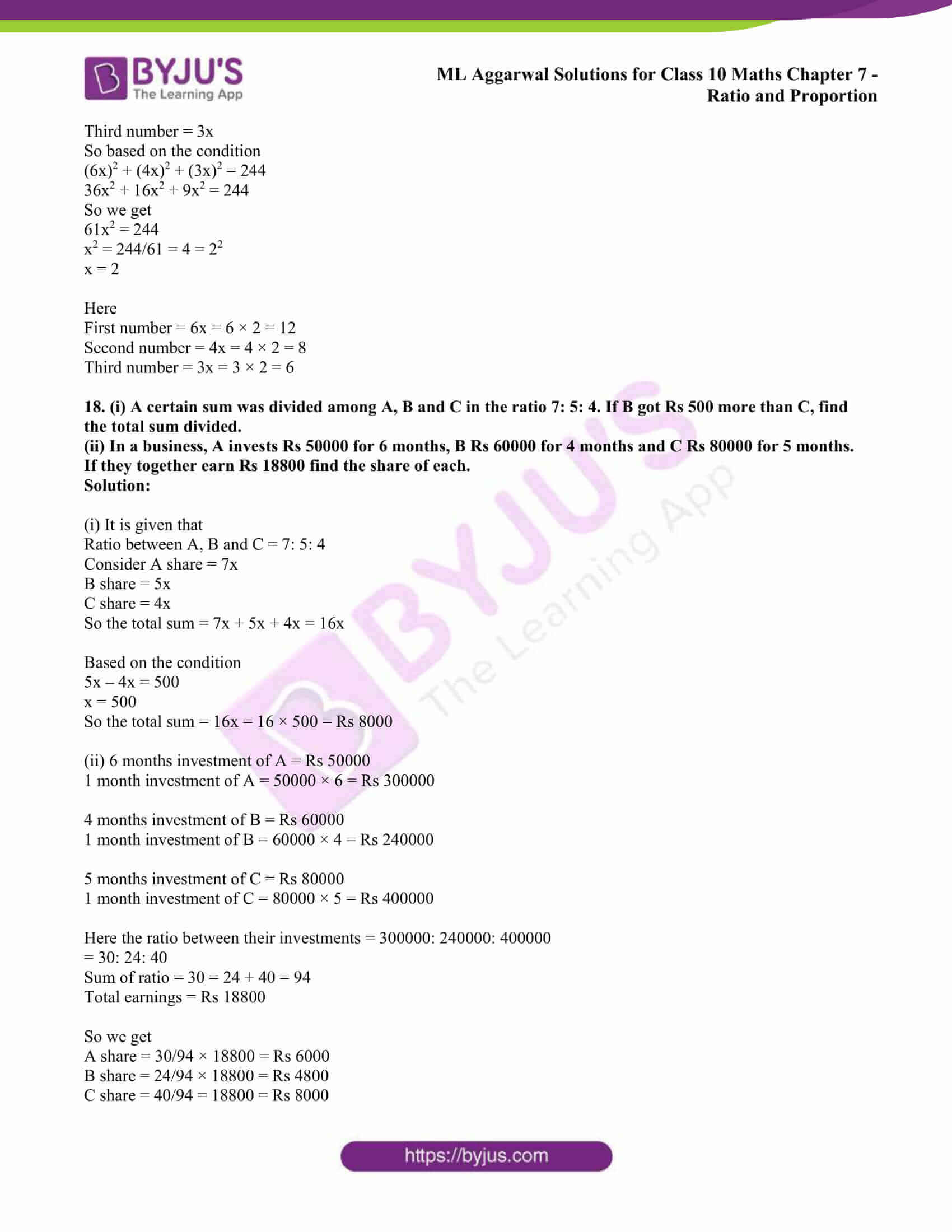 ml aggarwal solutions class 10 maths chapter 7 11