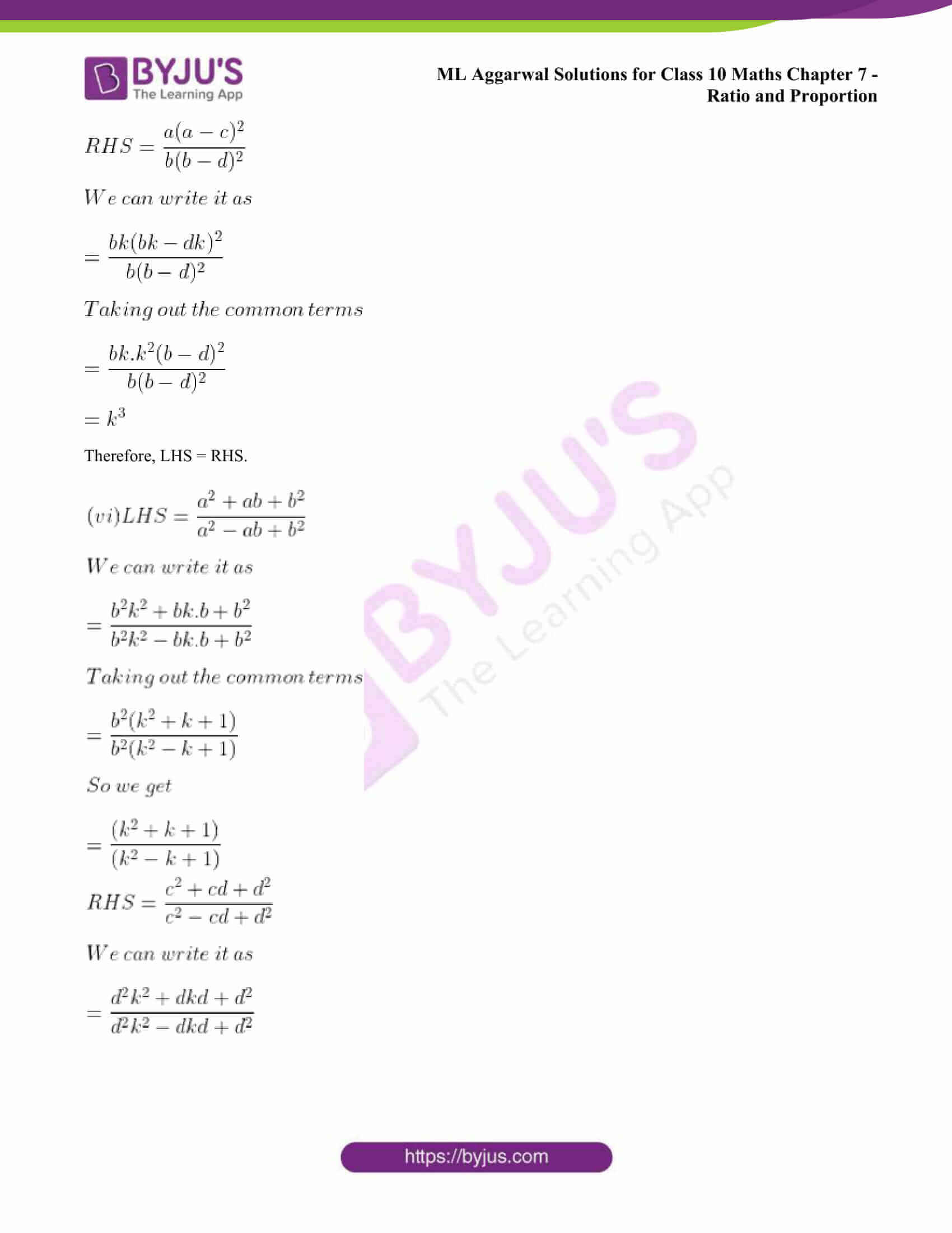 ml aggarwal solutions class 10 maths chapter 7 33