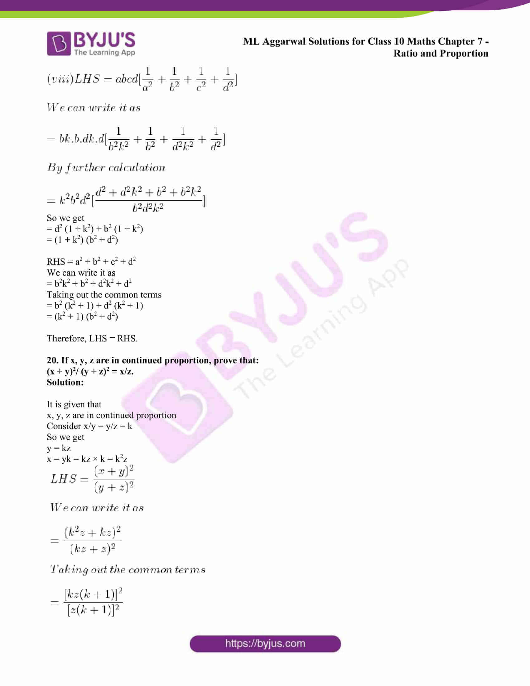 ml aggarwal solutions class 10 maths chapter 7 35