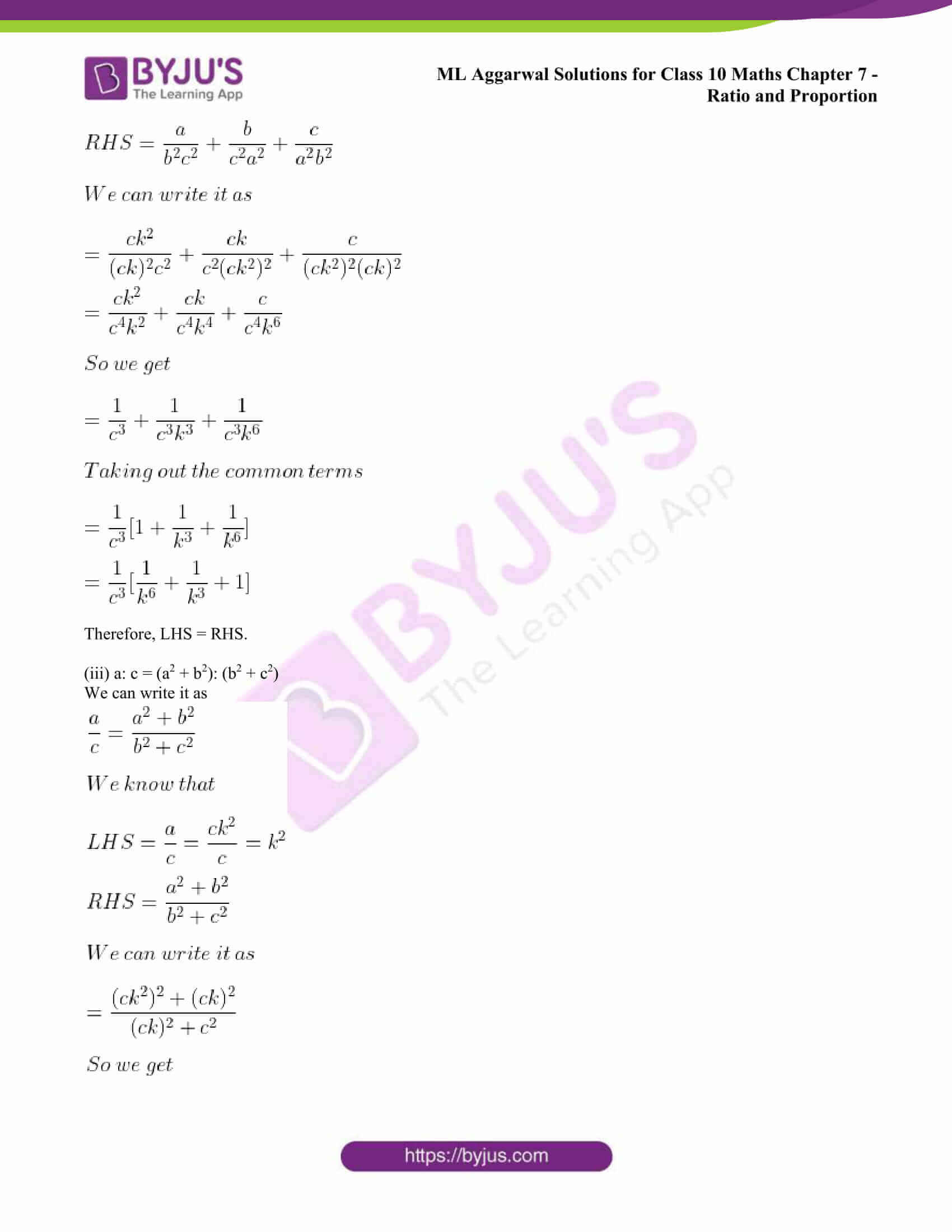 ml aggarwal solutions class 10 maths chapter 7 39
