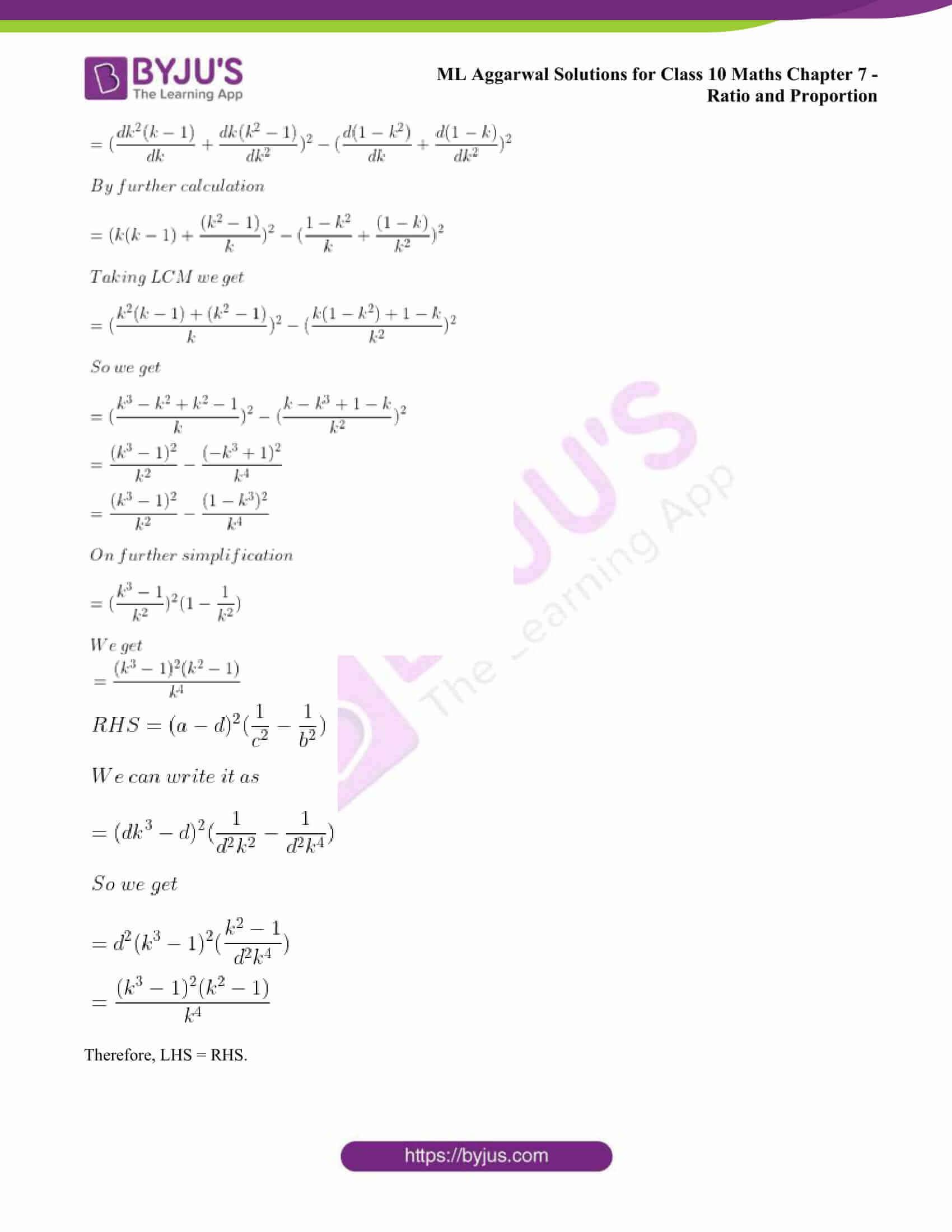 ml aggarwal solutions class 10 maths chapter 7 45